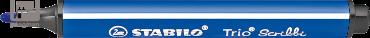 Stabilo viltstift Trio Scribbi, kleur blauw