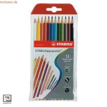 Stabilo kleurpotloden Aquacolor in etui, kleur assorti, à 12 stuks