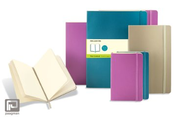 Moleskine notitieboekje coloured large blauw blanco