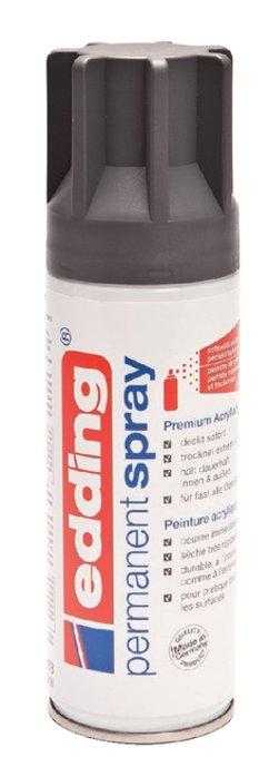 Verfspuitbus edding 5200 permanent spray mat antraciet