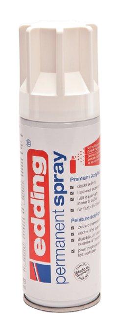 Verfspuitbus edding 5200 permanent spray glossy verkeerswit
