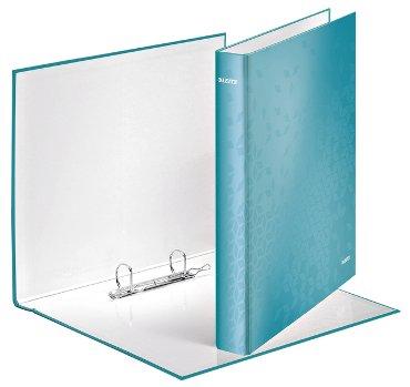 Ringband Leitz WOW A4 2-rings D-mech 25mm karton ijsblauw