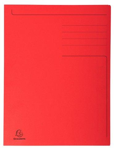 Dossiermap Exacompta Forever 280gr 3kleppen rood