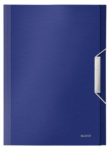 Sorteermap Leitz Style PP 6-vaks titaniumblauw