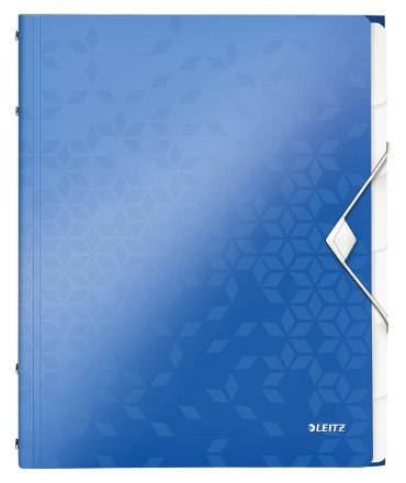 Sorteermap Leitz WOW PP 6-delig blauw