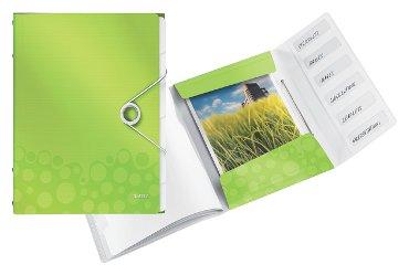 Sorteermap Leitz WOW PP 6-delig groen