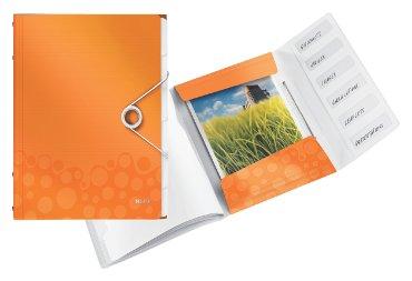 Sorteermap Leitz WOW PP 6-delig oranje