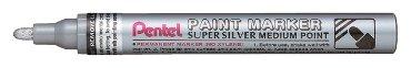 viltstift Pentel MFP10 ronde punt 2.5mm zilver