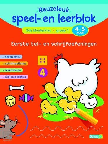 Reuzeleuk speel- en leerblok / Eerste tel- en schrijfoefeningen; 2de kleuterklas; Groep 1; 4-5 jaar