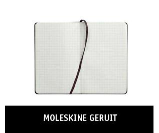 Allegeruitenotitieboeken van Moleskine beschikbaar bij Paagman.