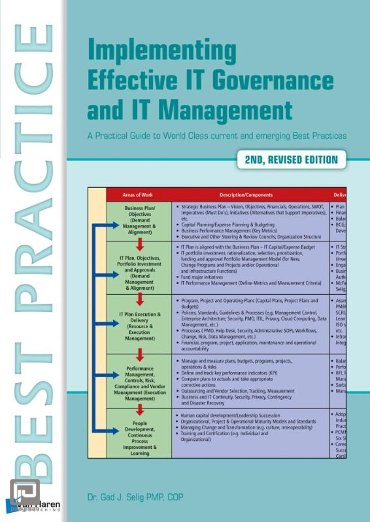 Implementing effective IT Governance and IT Management - Best practice