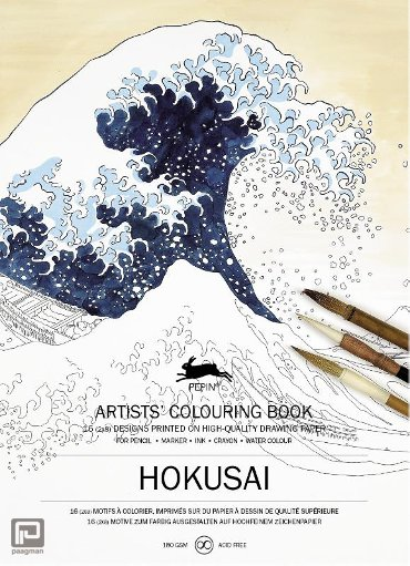 Hokusai - Artists' colouring book