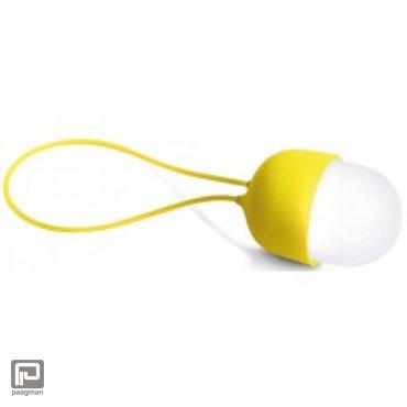 Lexon Clover oplaadbare zaklamp geel