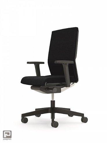 Interstuhl bureaustoel, model Yos Enjoy 160Y, kleur zwart met zwart voetkruis
