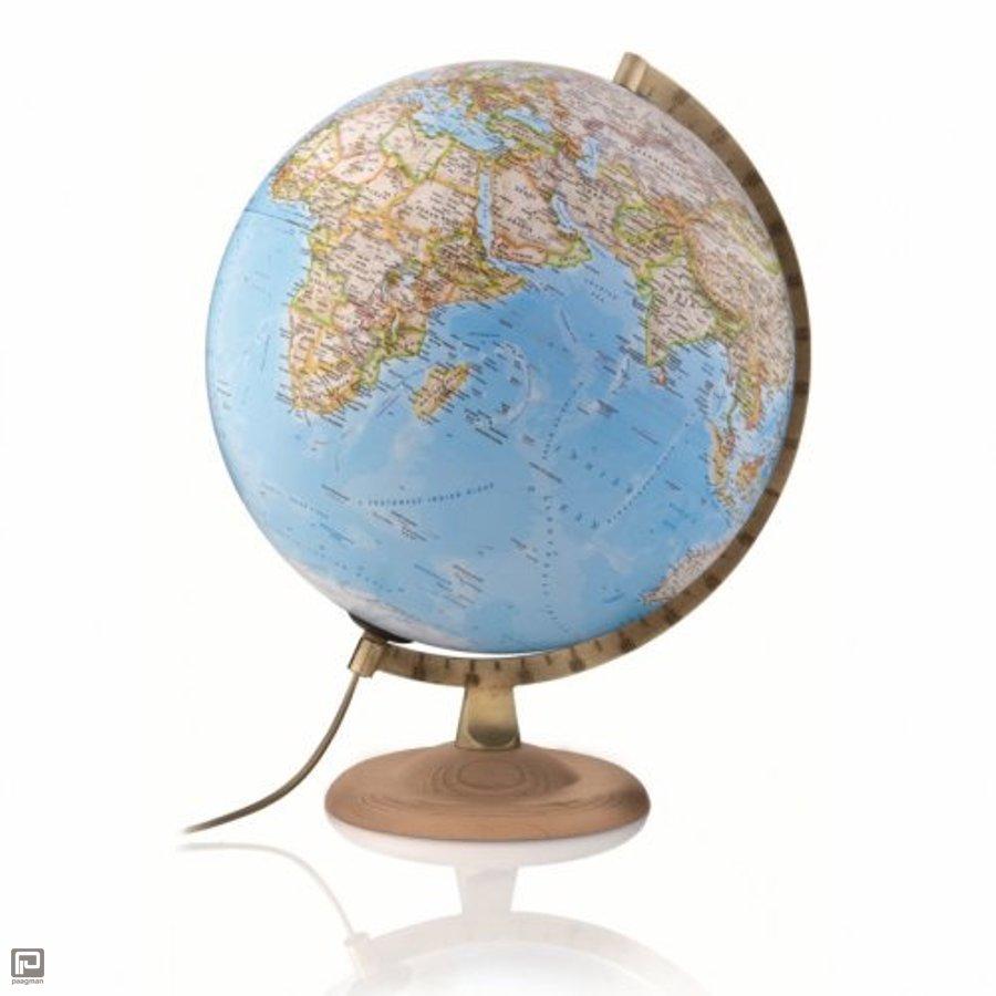 National Geographic globe, uitvoering gold classic met beuken houten ...