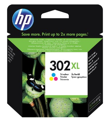 Inktcartridge HP F6U67AE 302XL kleur