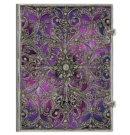 Paperblanks cahier, formaat 180 x 230 mm., uitvoering Aubergine grande, gelinieerd