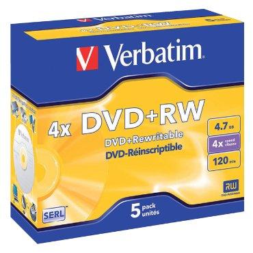 DVD+RW Verbatim 4.7GB 4x jewelcase