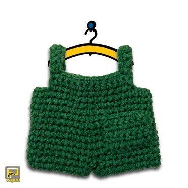 Just-Dutch groene overall voor Nijntje / Nina handmade