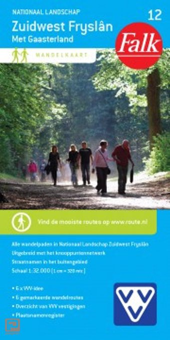 Nationaal landschap Zuidwest Fryslân met Gaasterland - Falk wandelkaart