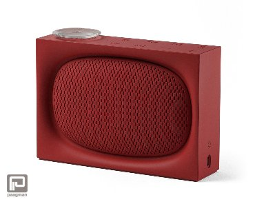 Lexon Ona radio + bluetooth speaker rood