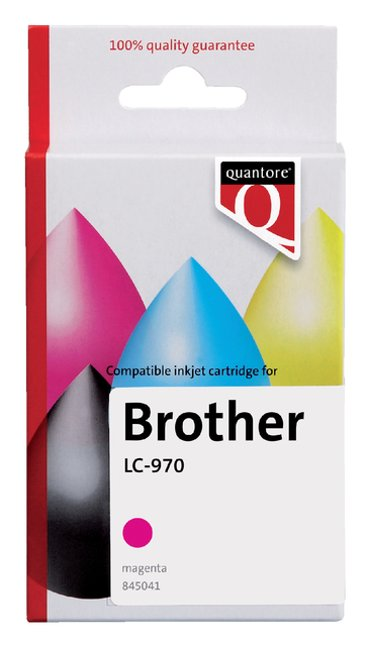 Inktcartridge Quantore Brother LC-970 rood