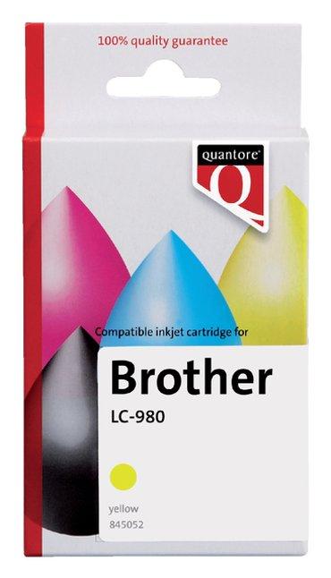Inktcartridge Quantore Brother LC-980 geel
