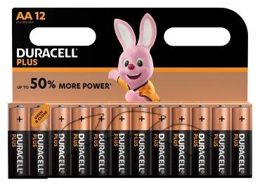 Batterij Duracell Plus Power 12xAA alkaline