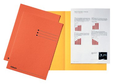 Inlegmap Esselte 180gr karton oranje