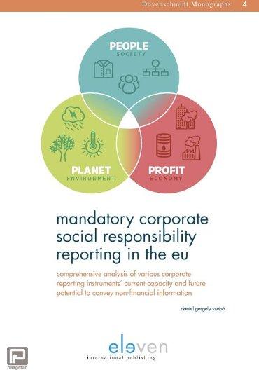 Mandatory corporate social responsibility reporting in the EU - Dovenschmidt Monographs