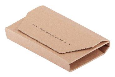 Wikkelverpakking CleverPack cd +zelfkl strip bruin 25stuks