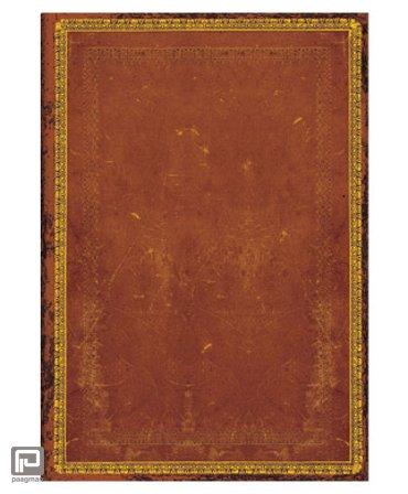 Paperblanks cahier, formaat 180 x 230 mm., uitvoering Handtooled midi, gelinieerd