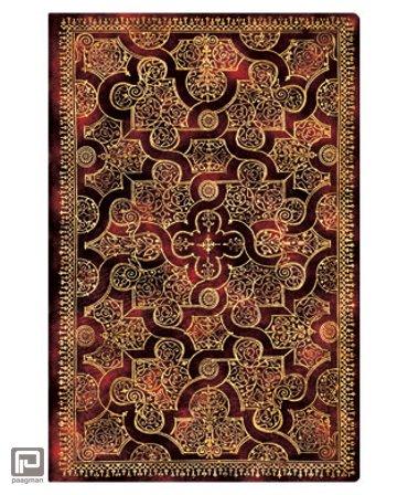 Paperblanks cahier, formaat 95 x 140 mm., uitvoering Mystique mini, gelinieerd