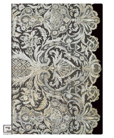 Paperblanks cahier, formaat 130 x 180 mm., uitvoering Ivory Veil midi, gelinieerd
