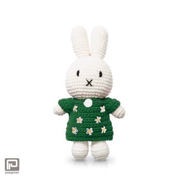 Just-Dutch Nijntje handmade en haar groene bloemenjurk