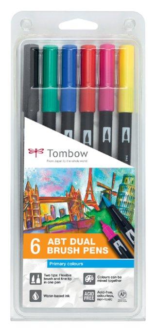 Brushstift Tombow Abt Dual assorti blister à 6 stuks