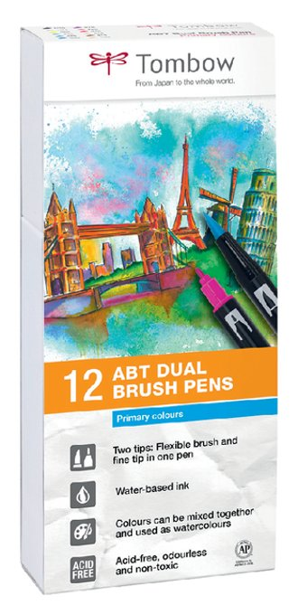 Brushstift Tombow Abt Dual assorti doos à 12 stuks