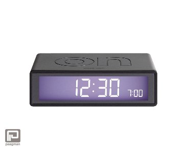 Lexon Flip 2 lcd wekker donker grijs metal