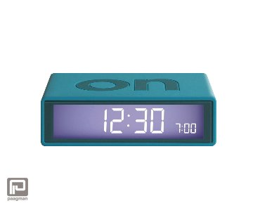 Lexon Flip 2 lcd wekker blauw groen - turquoise
