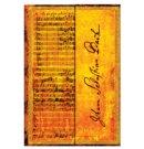 Paperblanks cahier, formaat 10 x 14 cm., uitvoering Bach Cantata, gelinieerd