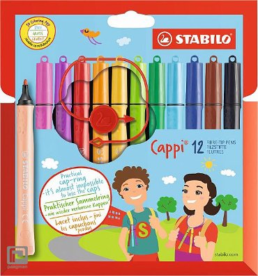 Stabilo viltstiften cappi (12 kleuren)