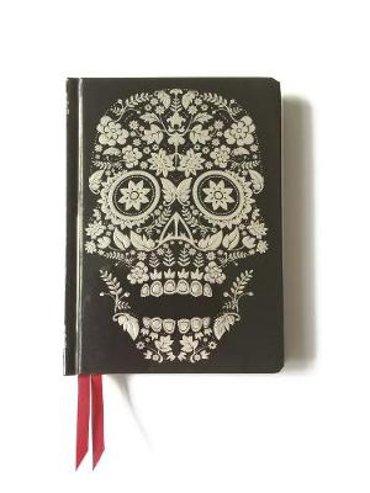 Flower skull contemporary journal
