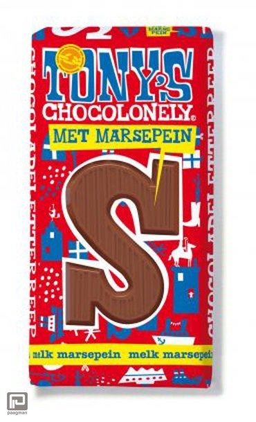 Tony's Chocolonely letterreep melk met marsepein S