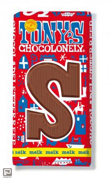 Tony's Chocolonely letterreep melk diverse letters