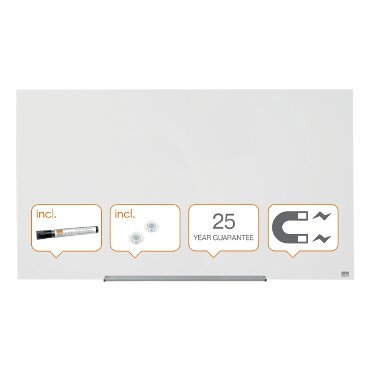 Glasbord Nobo Impression Pro 1260x711mm briljant wit