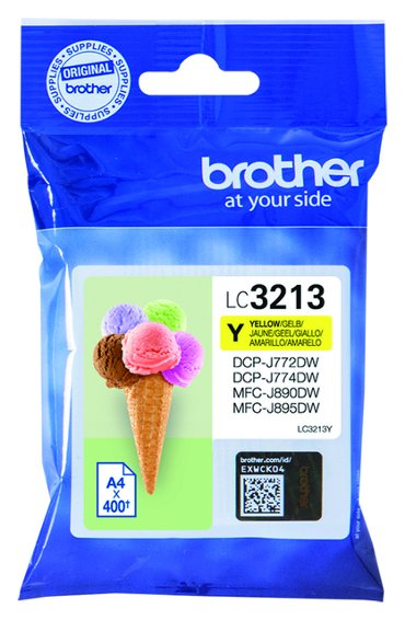 Inktcartridge Brother LC-3213 geel HC