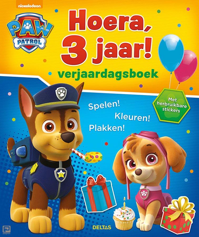 Hoera 3 Jaar Verjaardagsboek Paw Patrol 9789044748390