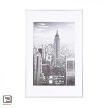 Henzo fotolijst manhattan, formaat 40 x 60 cm., kleur zilver