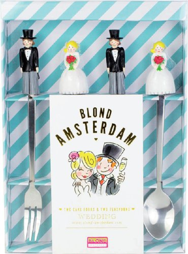 Blond wedding theelepel theevorkje