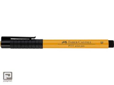 Faber Castell tekenstift pitt artist pen brush 109 donker chroom geel